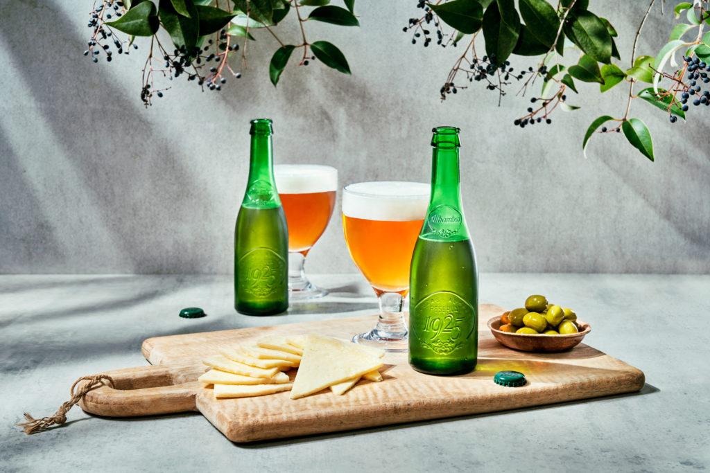 estilismo de bebidas cerveza alhambra